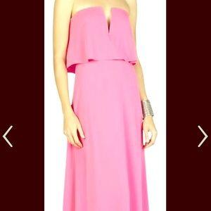 BCBG Pink Strapless Gown